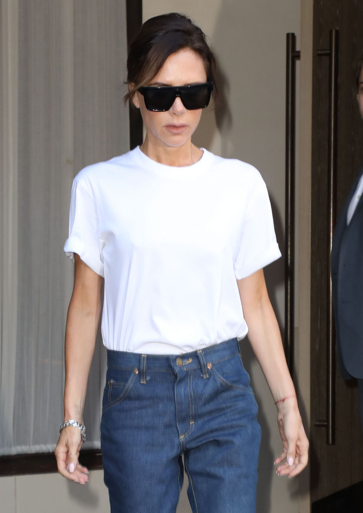 VICTORIA BECKHAM Leaves Edition Hotel in New York 09/07/2017