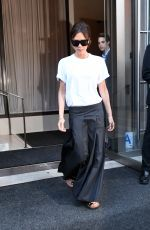 VICTORIA BECKHAM Leaves Her Hotel in New York 09/08/2017