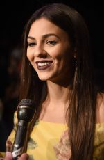 VICTORIA JUSTICE at Marchesa Fasion Show at New York Fashion Week 09/13/2017