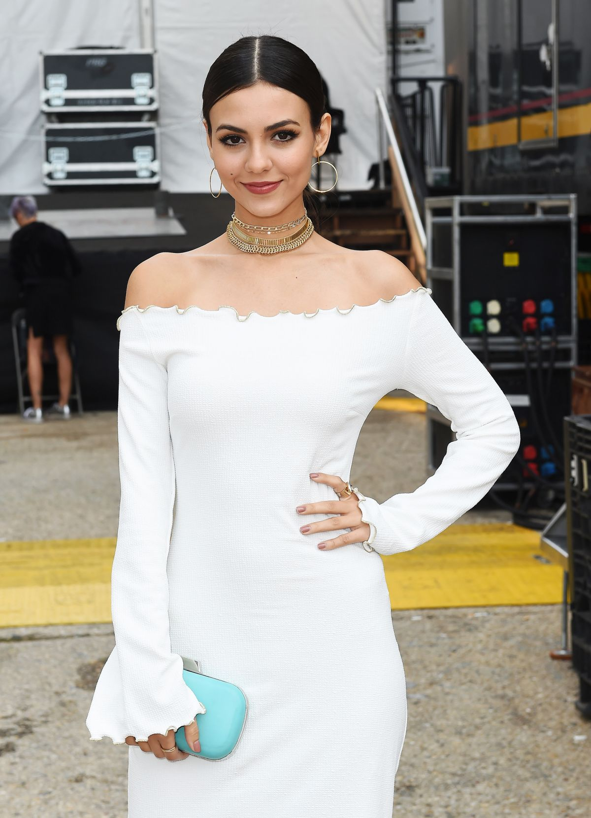 VICTORIA JUSTICE Out in New York at Fashion Week 09/11/2017
