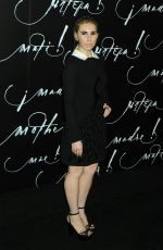 ZOSIA MAMET at Mother! Premiere in New York 09/13/2017