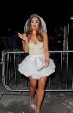 ABIGAIL CLARKE  at a Halloween Party at Aquarium Club in Shoreditch 10/27/2017