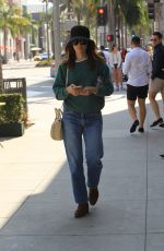 ABIGAIL SPENCER Out Shopping on Rodeo Drive in Beverly Hills 10/13/2017