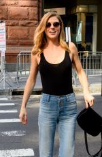 ADRIANE PALICKI Arrives at AOL Build in New York 10/04/2017