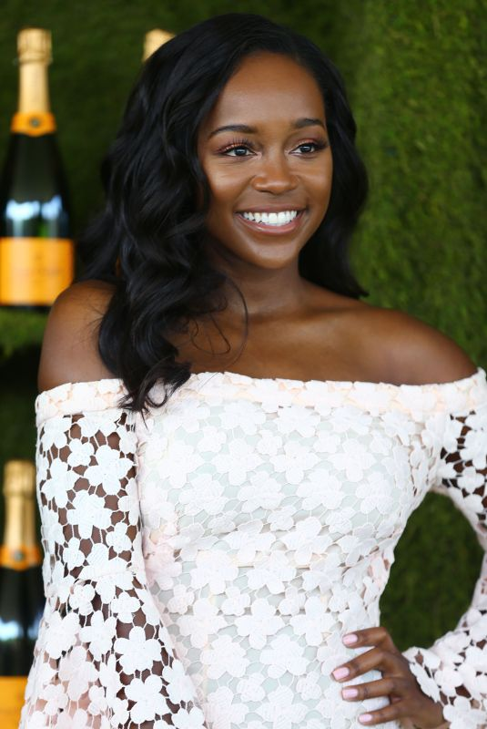 AJA NAOMI KING at 8th Annual Veuve Clicquot Polo Classic in Los Angeles 10/14/2017