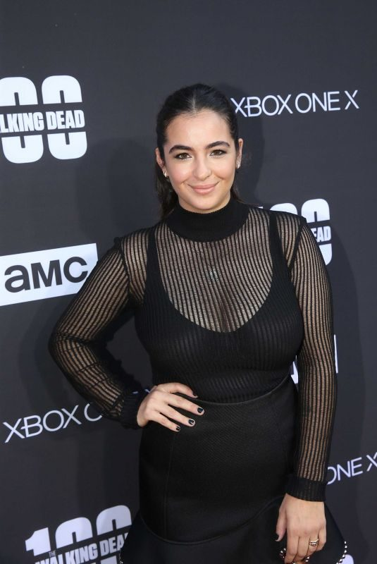 ALANNA MASTERSON at The Walking Dead, Season 8 Premiere in Los Angeles 10/22/2017