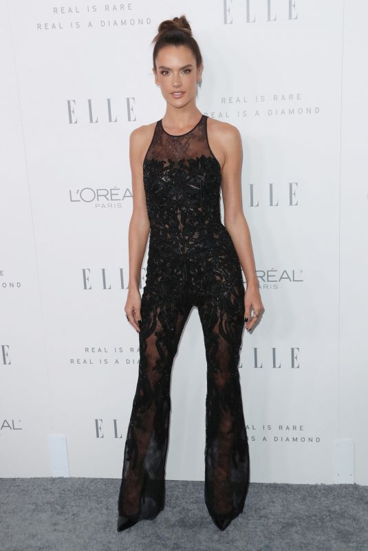 ALESSANDRA AMBROSIO at Elle Women in Hollywood Awards in Los Angeles 10/16/2017