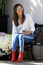ALESSANDRA AMBROSIO at Il Pastaio Restaurant in Beverly Hills 10/12/2017