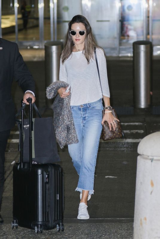 ALESSANDRA AMBROSIO at JFK Airport in New York 10/10/2017