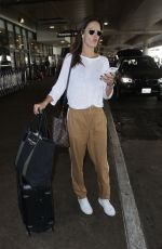 ALESSANDRA AMBROSIO at LAX Airport in Los Angeles 10/11/2017
