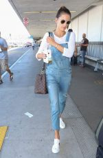 ALESSANDRA AMBROSIO at LAX Airport in Los Angeles 10/24/2017