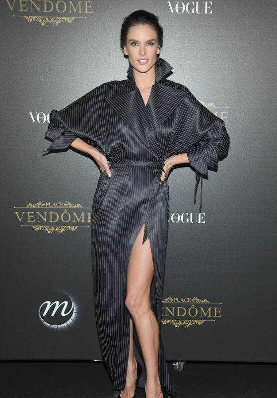 ALESSANDRA AMBROSIO at Vogue Party at Paris Fashion Week 10/01/2017