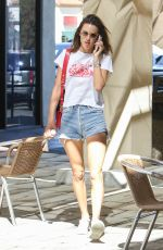 ALESSANDRA AMBROSIO in Denim Shorts Out in Los Angeles 10/17/2017