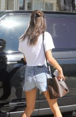 ALESSANDRA AMBROSIO in Denim Shorts Out in West Hollywood 10/26/2017
