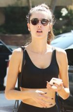 ALESSANDRA AMBROSIO in Tights Out in Los Angeles 10/14/2017