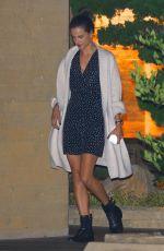 ALESSANDRA AMBROSIO Leaves a Dinner in Malibu 10/14/2017