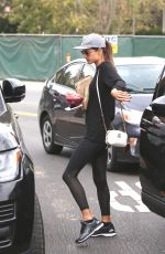 ALESSANDRA AMBROSIO Out and About in Brentwood 10/30/2017