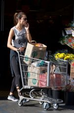 ALESSANDRA AMBROSIO Shopping at Whole Foods in Brentwood 10/20/2017