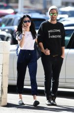 ALESSANDRA TORRESANI and Sturgis Adams Out for Lunch in Los Angeles 10/21/2017