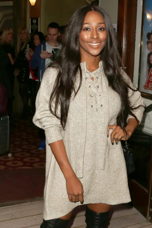 ALEXANDRA BURKE at Annie Press Night at Piccadilly Theatre in London 10/02/2017