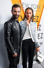 ALICIA VIKANDER at Volez, Voguez, Voyagez: Louis Vuitton Exhibition Opening in New York 10/26/2017