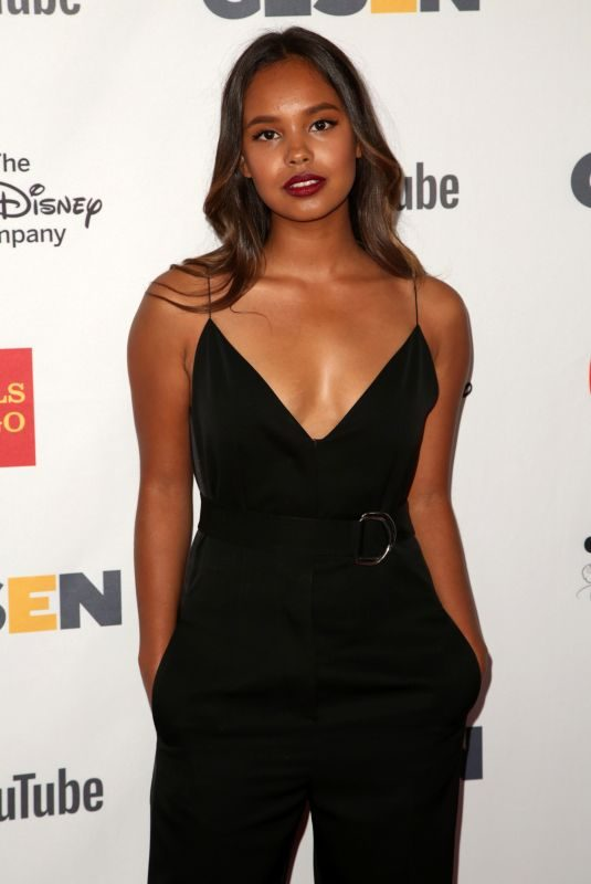 ALISHA BOE at Glsen Respect Awards in Los Angeles 10/20/2017