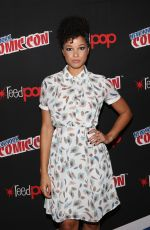 ALISHA WAINWRIGHT at Shadowhunters Panel at New York Comic-con 10/07/2017