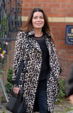 ALISON KING Filming Comeback Coronation Street Scenes in Manchester 10/10/2017
