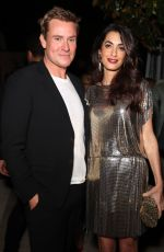 AMAL CLOONEY at William Vintage x Farfetch Unveiling of Gianni Versace Archive in Beverly Hills 10/05/2017