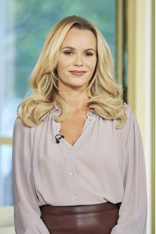 AMANDA HOLDEN at This Morning Show in London 10/25/2017