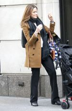 AMANDA PEET on the Set of The Romanoffs at Fifth Avenue in New York 10/26/2017