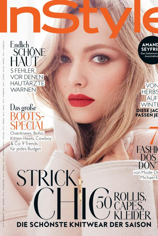 AMANDA SEYFRIED in Instyle Magazine, Germany November 2017