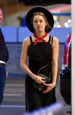 AMBER HEARD at LAX Airport in Los Angeles 10/02/2017