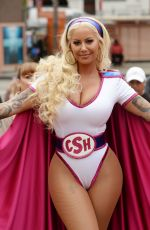 AMBER ROSE at Her 3rd Annual Slutwalk in Los Angeles 10/01/2017