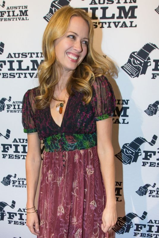 AMY ACKER at Amanda and Jack Go Glamping Premiere at Austin Film Festival 10/29/2017
