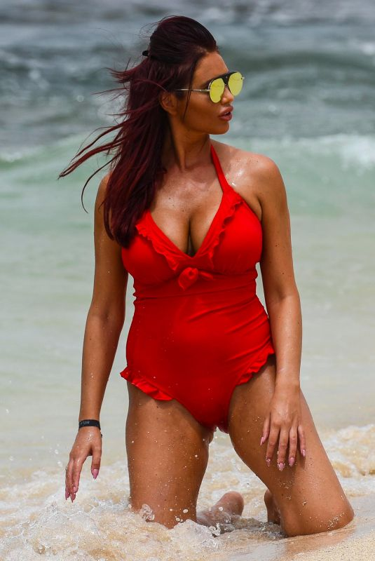AMY CHILDS in Swimsuit at a Beach in Cape Verde 10/27/2017