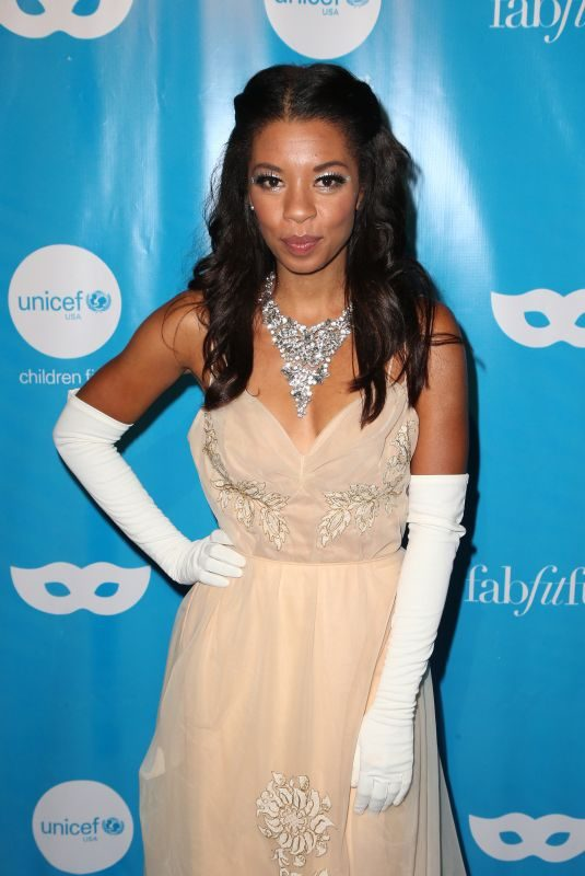 ANGEL PARKER at Unicef Next Generation Masquerade Ball in Los Angeles 10/27/2017