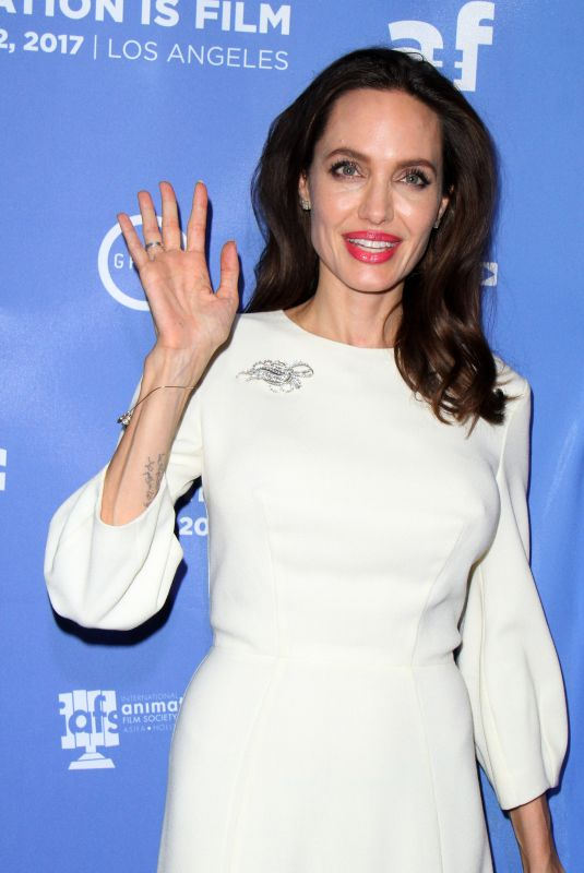 ANGELINA JOLIE at The Breadwinner US Premiere in Hollywood 10/20/2017