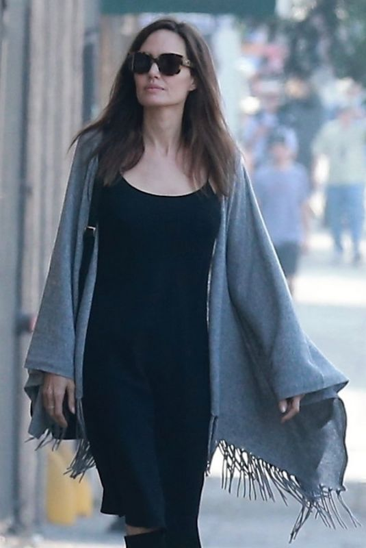 ANGELINA JOLIE Out for Ice Cream in Los Angeles 10/30/2017