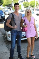 ANGELIQUE FRENCHY MORGAN and Justin Jedlica at Ivy in Beverly Hills 10/11/2017