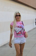 ANGELIQUE FRENCHY MORGAN Out Shopping in Beverly Hills 10/13/2017