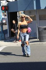 ANGELIQUE MORGAN in Ripped Jeans Shopping in Beverly Hills 10/27/2017