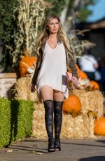 ANNA BRAGA at a Pumpkin Patch in Los Angeles 10/14/2017
