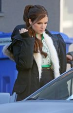 ANNA KENDRICK on the Set of Nicole in Vancouver 10/28/2017