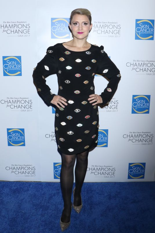 ANNALEIGH ASHFORD at Skin Cancer Foundation's Champions for Change Gala in New York 10/17/2017