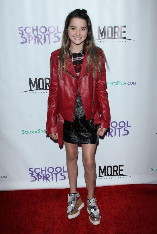 ANNIE LEBLANC at School Spirits Premiere in Los Angeles 10/06/2017