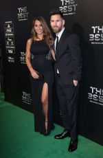ANTONELLA ROCCUZZO and Lionel Messi at Best Fifa Football Awards in London 10/23/2017