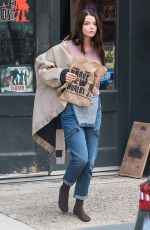ANYA TAYLOR-JOY on the Set of  Glass in Philadelphia 10/03/2017