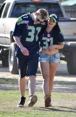 ARIEL WINTER at Rams vss Seahawks Game in Los Angeles 10/08/2017