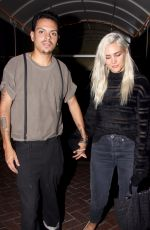 ASHLEE SIMPSON Out in West Hollywood 10/01/2017